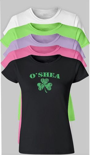 Women's Personalized Shamrock  T-Shirt