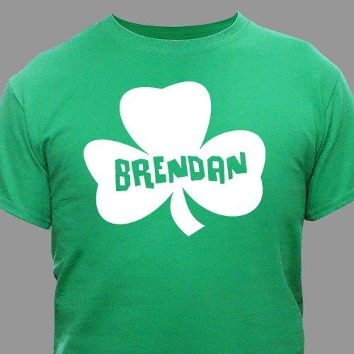 Personalized Green Shamrock T-Shirt – Youth & Adult Sizes