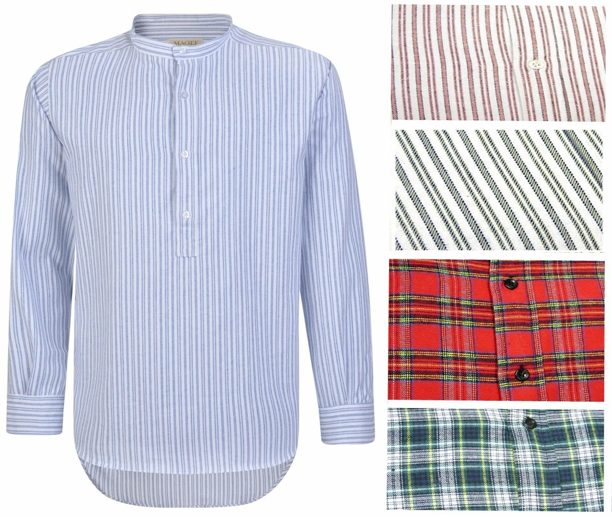 Magee Grandfather Shirt ~ Made in Ireland
