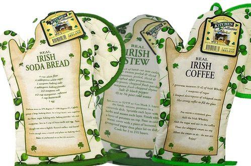 Irish Recipe Oven Glove & Pot Holder ~ Made in Ireland