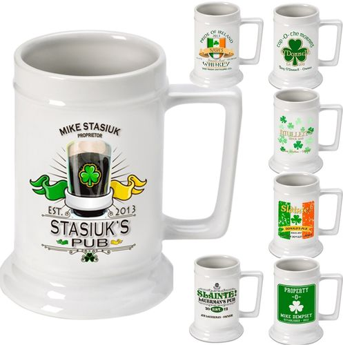 Personalized Irish Beer Stein~ Xavier Irish Gifts