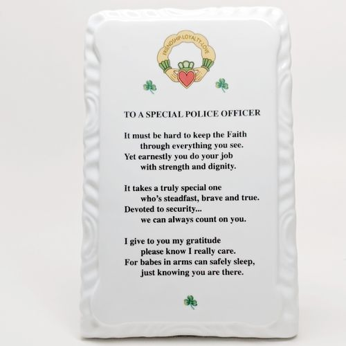 Irish Policeman Blessing Ceramic Plaque