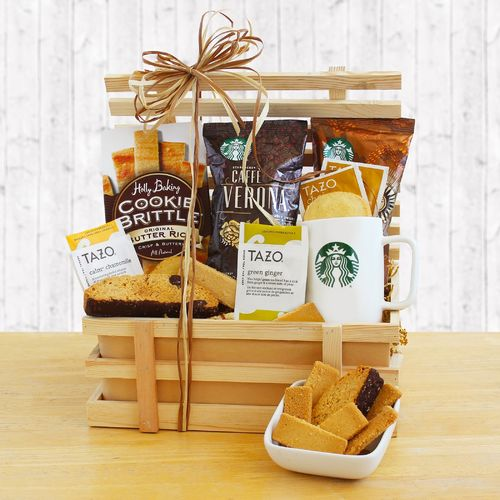Starbucks Coffee Gift Crate ~ Gift Basket