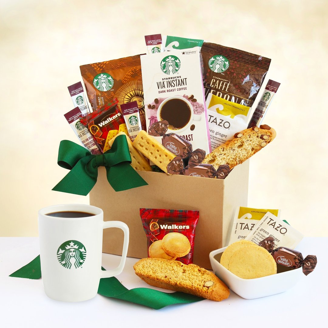 Starbucks Thank You Gift Basket ~ Coffee & Biscotti
