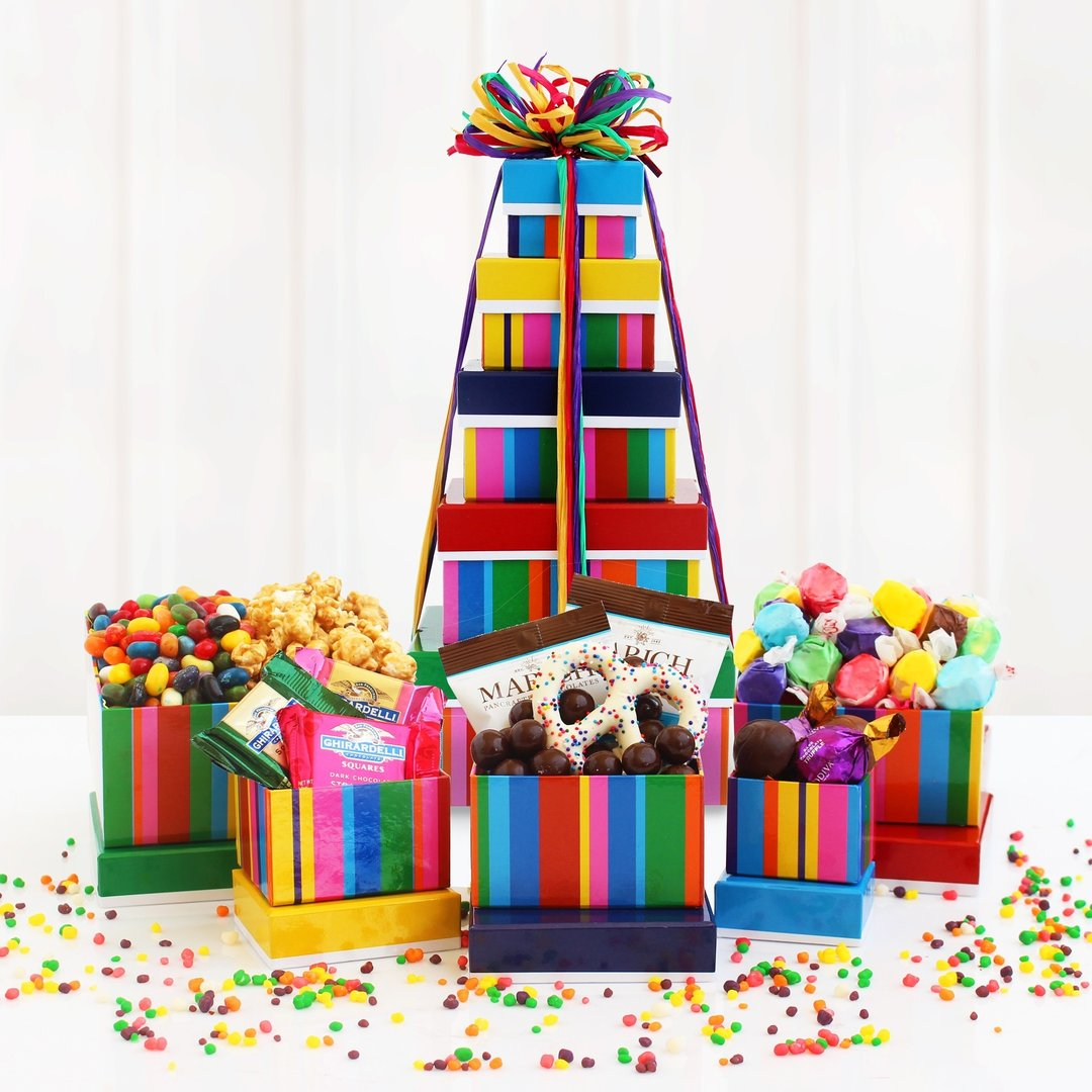 Happy Birthday Gift Tower