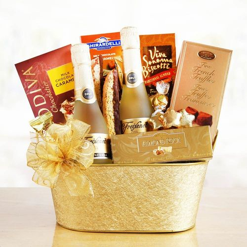 Sparkling Wine and Truffles Gift Basket
