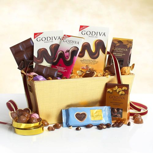 Assorted Chocolates Gift Basket ~ Godiva