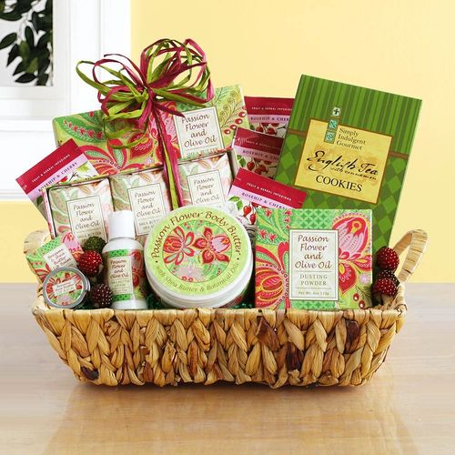 Passion Flower & Olive Oil Spa Gift Basket