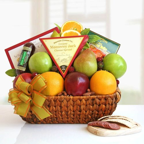 Fruit Basket & Snacks Gift