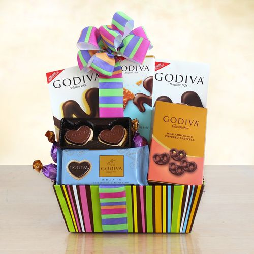 Cheerful Chocolate Gift Basket ~ Godiva