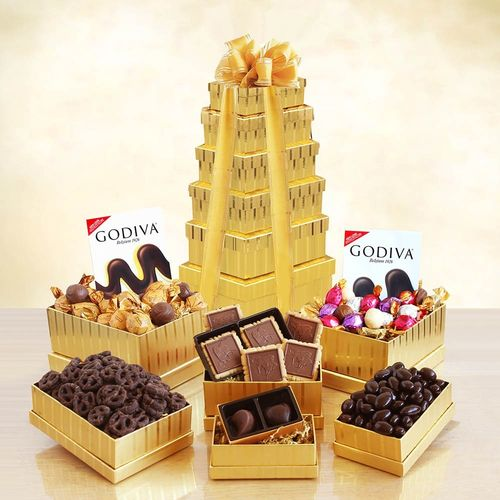 Chocolate Equals Happiness Gift Tower