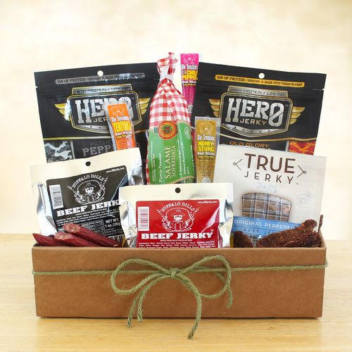 Dried Meat and Jerky Gift Basket
