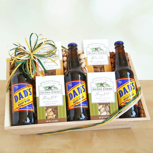 Assorted Nuts Crate Gift Basket