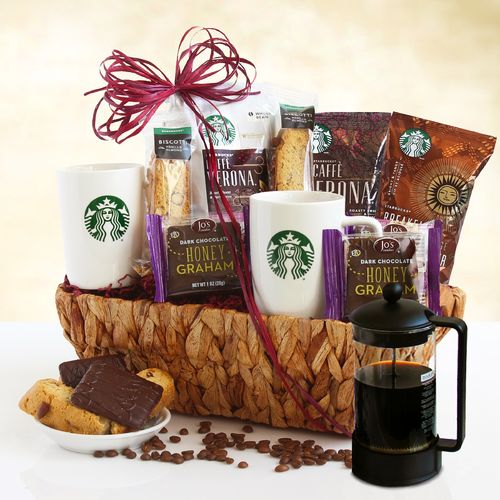 Starbucks Coffee & Coffee Press Gift Basket