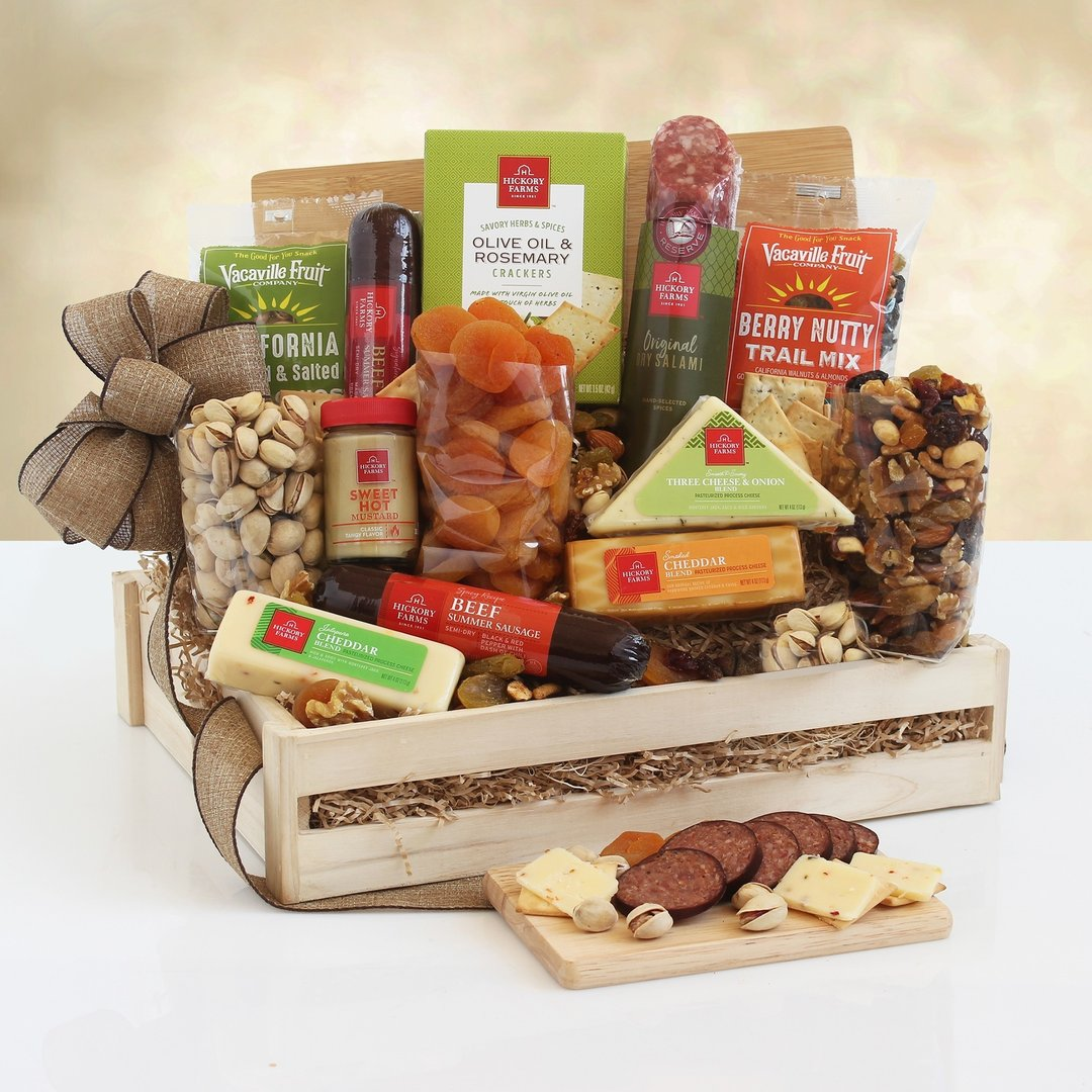 Deluxe Meat & Cheese Gift Crate
