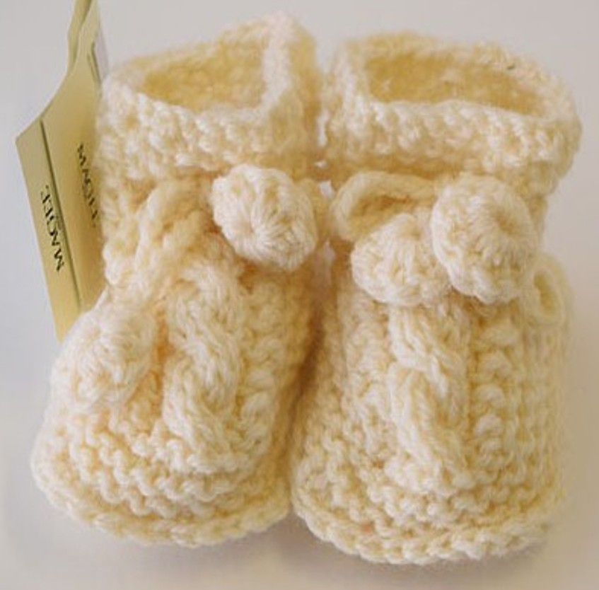 Hand Knit Baby Booties ~ Made in Ireland