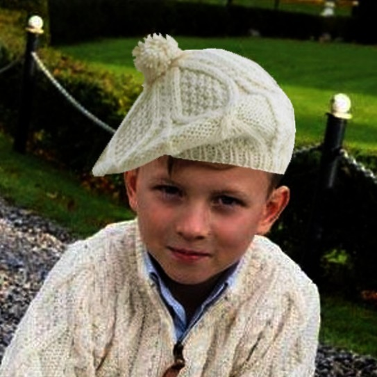 Child Irish Wool Tam Hat ~ Made in Ireland