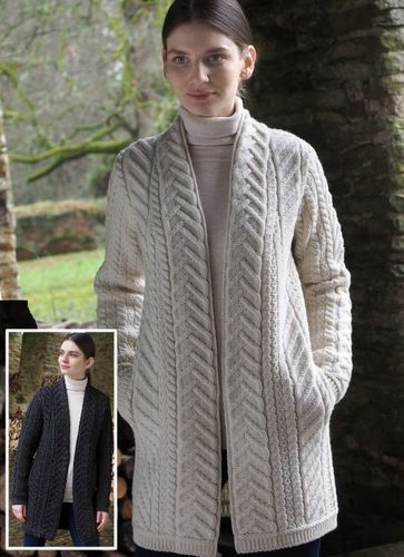 Super Soft Merino Wool Edge Coat ~ Irish Knitwear