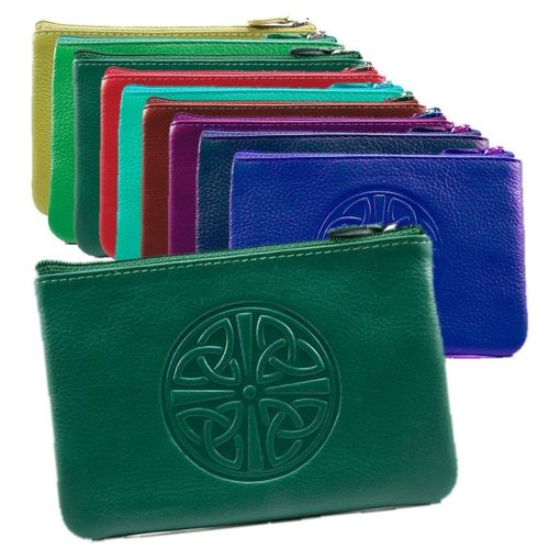 Celtic Leather Coin Purse ~ Assorted Colors