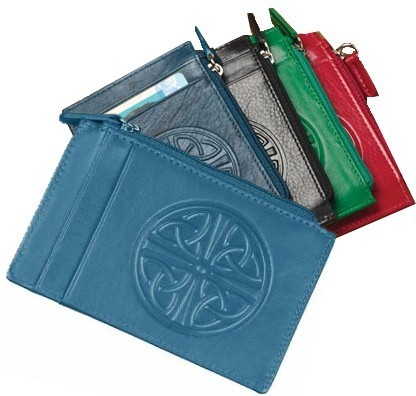 Celtic Leather ID & Card Holder Wallet ~ Assorted Colors
