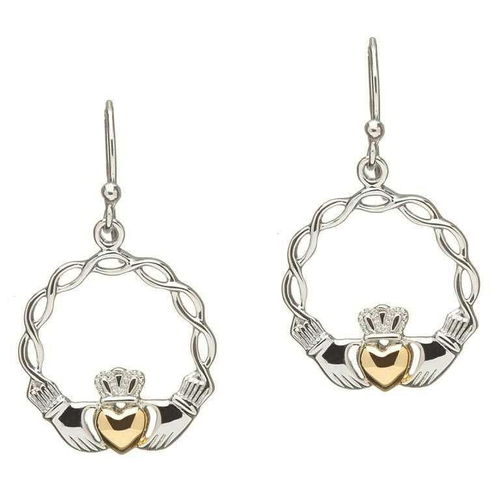 Sterling Silver Gold Heart Claddagh Earrings~ Shanore Ireland Shanore – Dublin, Ireland Adorning the