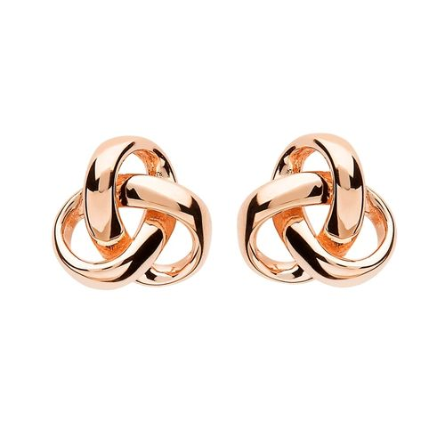 Silver Trinity Knot Rose Gold Plated Earrings ~ Shanore Ireland