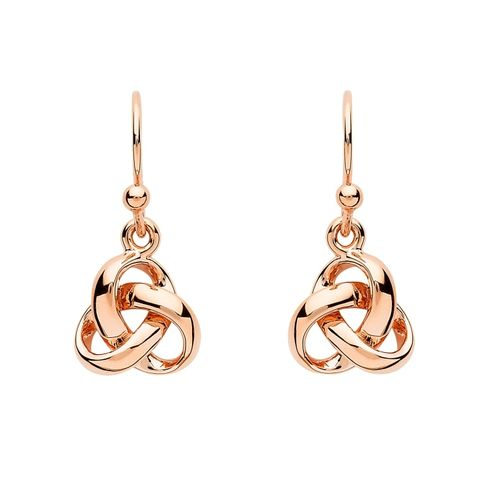 Silver & Rose Gold Trinity Dangle Earrings ~ Shanore Ireland