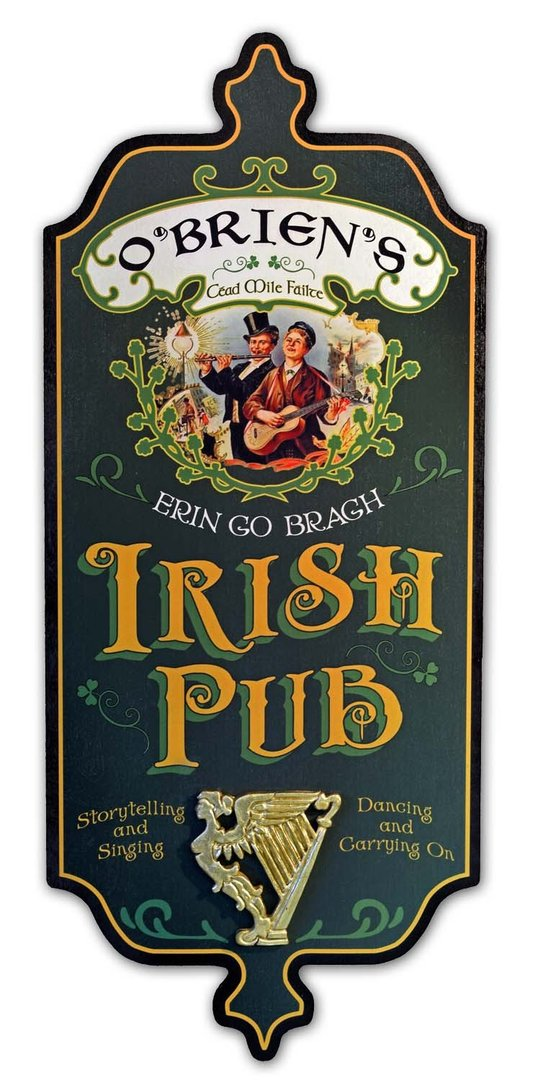 Personalized Dubliner Wood Sign