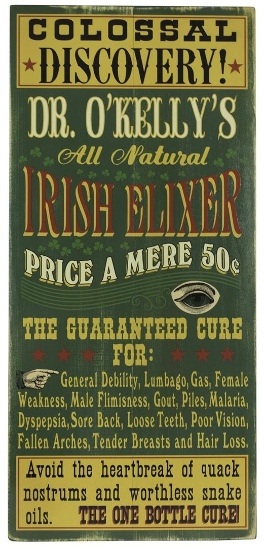 Irish Elixer Personalized Plank Sign