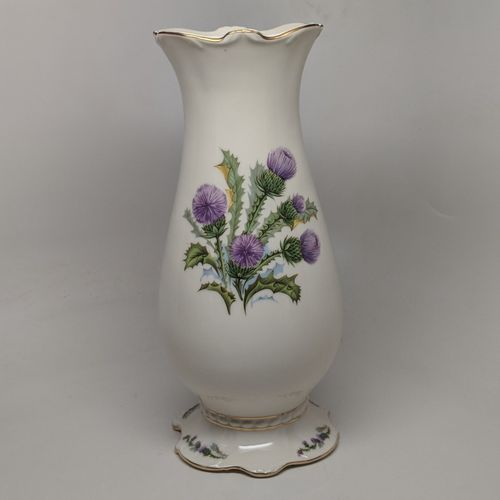Tall Ivory Scottish Thistle Vase
