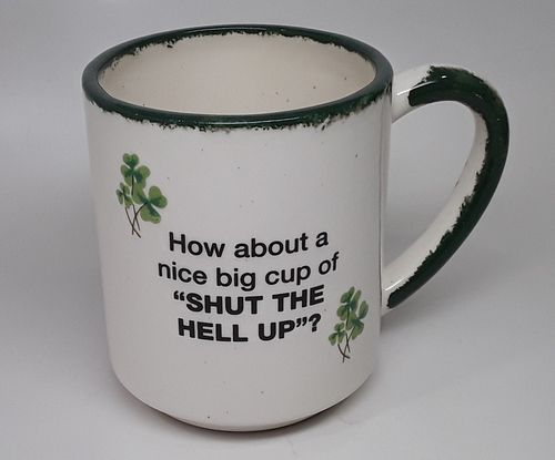 Shamrock Shut Up Stackable Mug