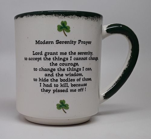 Shamrock Mod Serenity Prayer Stack Mug