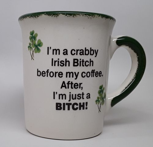 Shamrock Crabby irish Tapered Mug