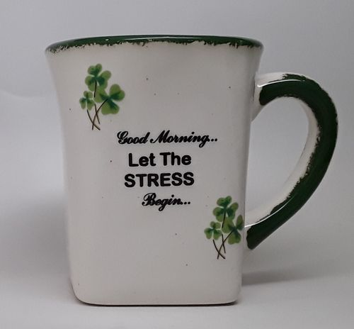 Shamrock Stress Begin Square Bottom Mug