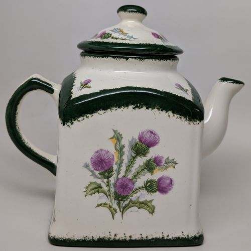 Square Scottish Thistle Country Tea Pot