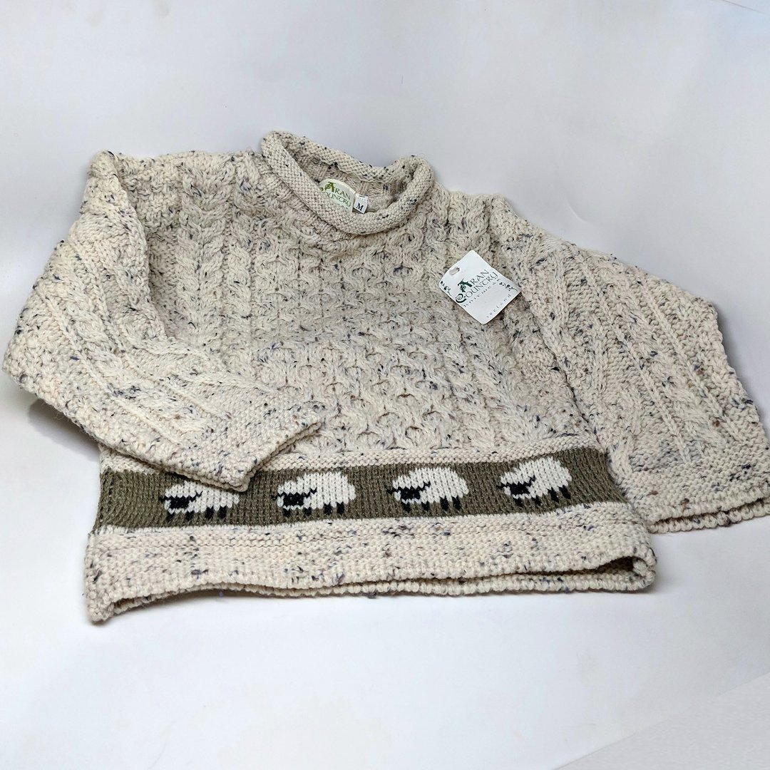 Aran Country Child Sheep Border Sweater