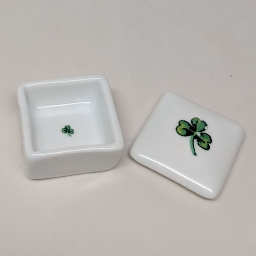 Small Square Shamrock Tooth Fairy Box ~ Irish & Such