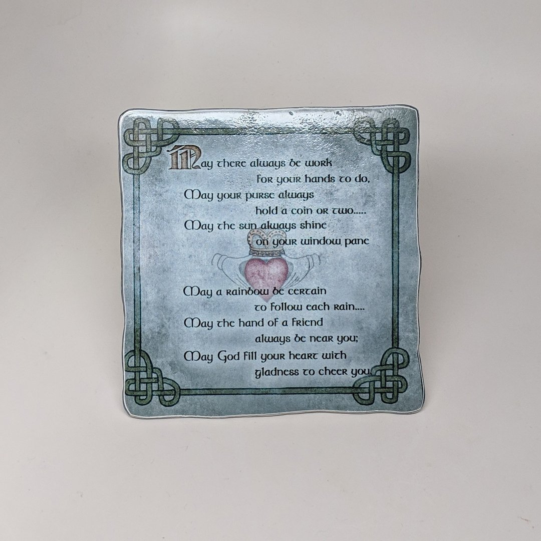 Irish Blessing Square Metal Plaque
