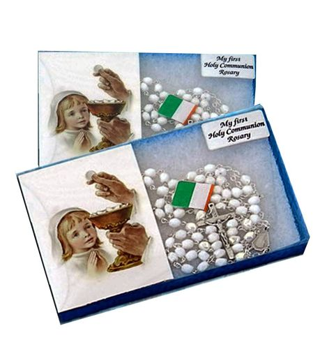 Girl's White Communion Rosary