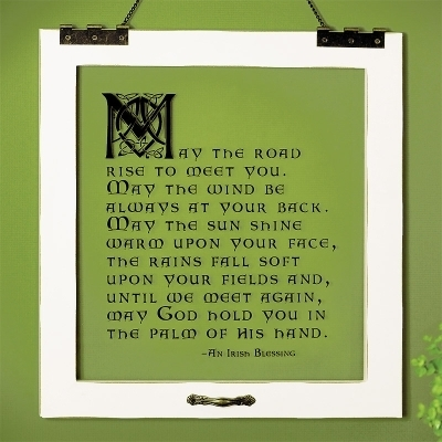 May the Road Rise ~ Irish Blessing Window Print