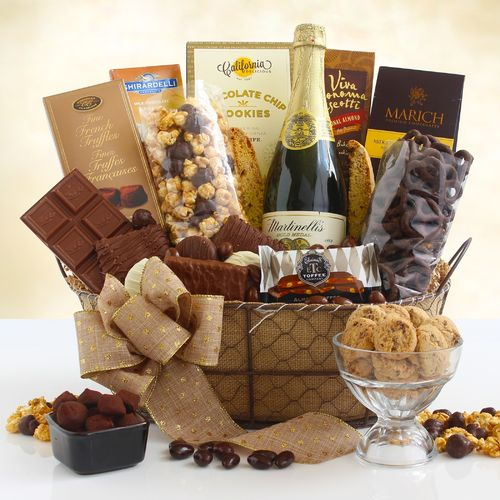 Gourmet Chocolate & Cider Gift Basket