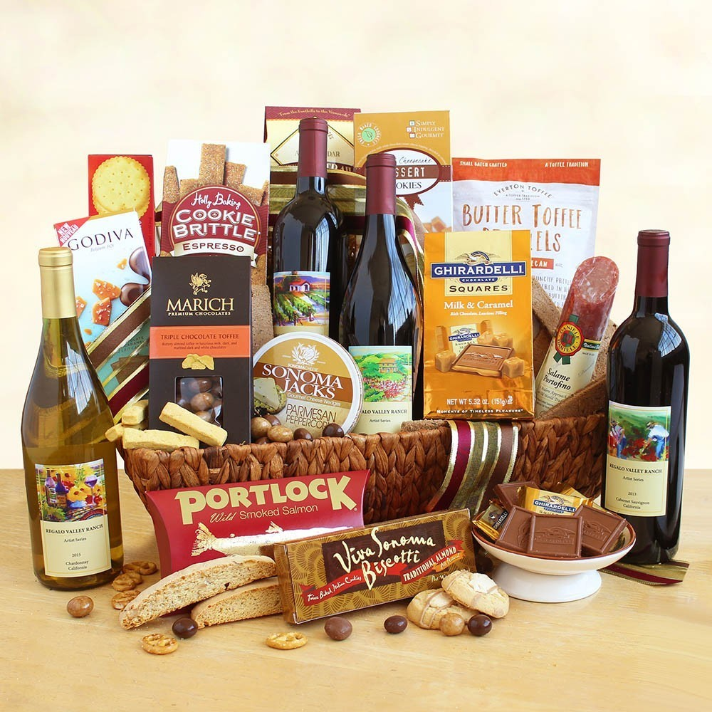 Splendor California Wine Gift Basket
