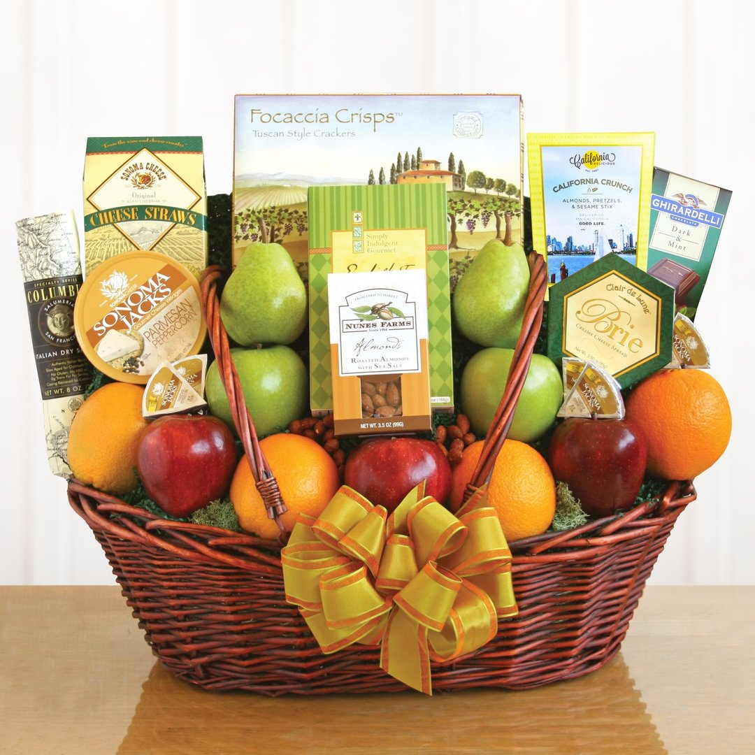Share The Health Fruit & Snack Gift Basket