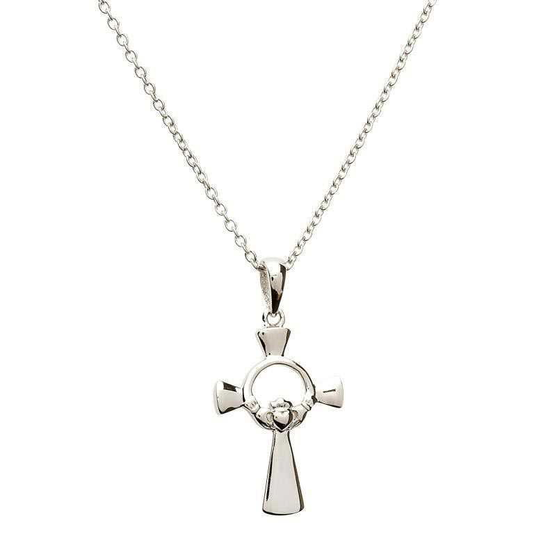 Silver Claddagh Cross ~ Shanore