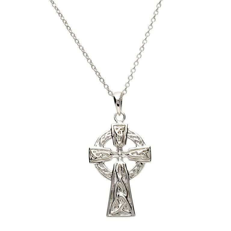 Celtic Trinity Knot Silver Cross