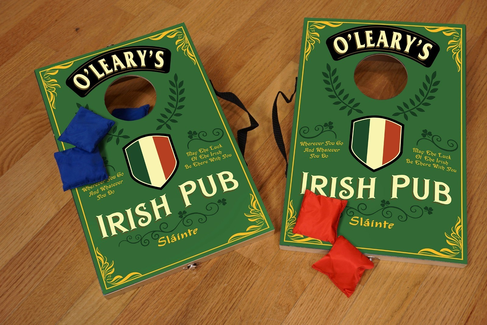 Personalized Irish Pub Corn Hole Game ~ Bean Bag Toss