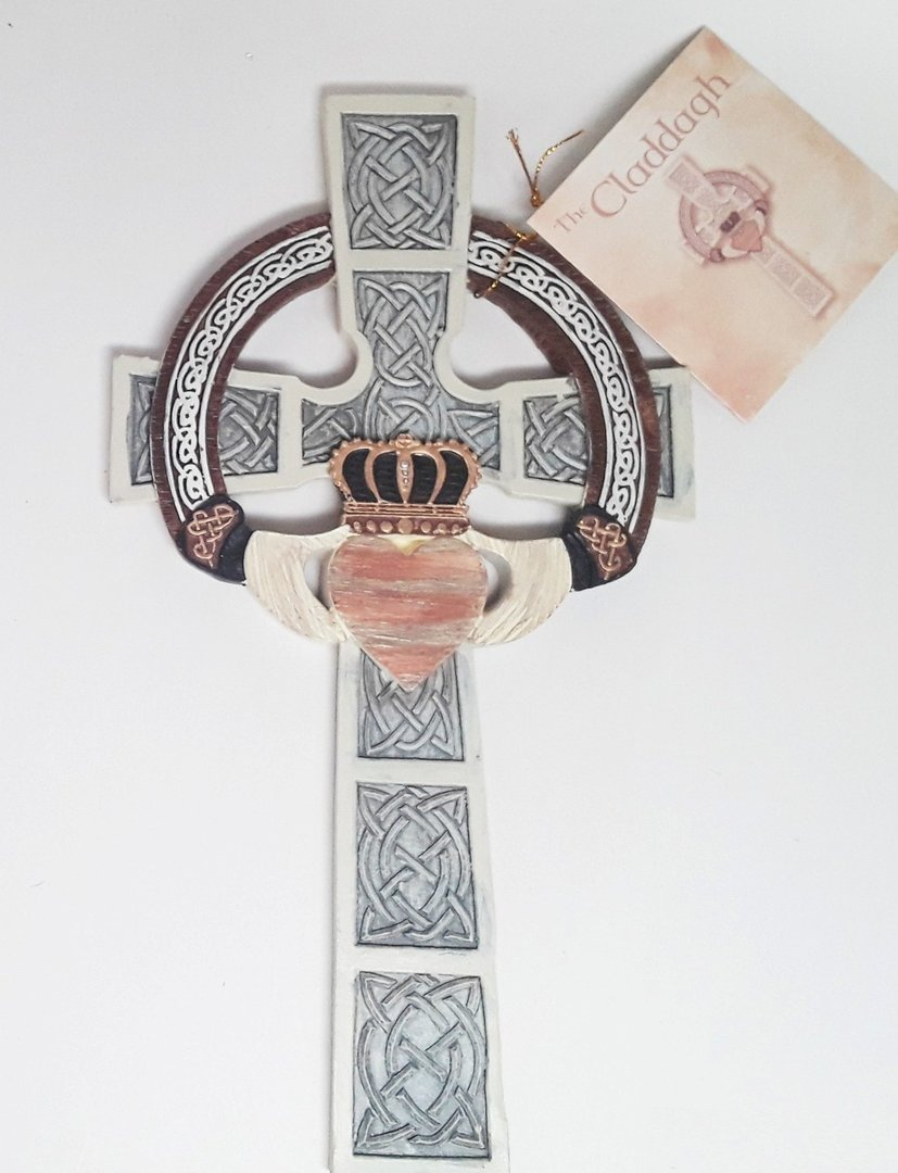 Claddagh Celtic Wall Cross ~ Abbey Gift