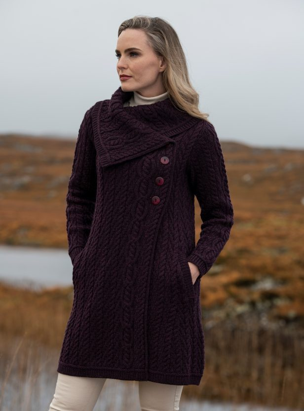Chunky Collar Sweater Coat ~ Made in Ireland