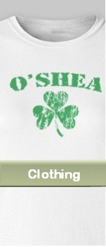 personalized Irish clothing shamrocks